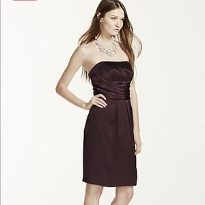 David's Bridal cocktail/bridesmaid dress black